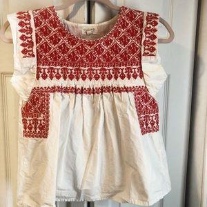 Valíante Boho embroidered peasant blouse